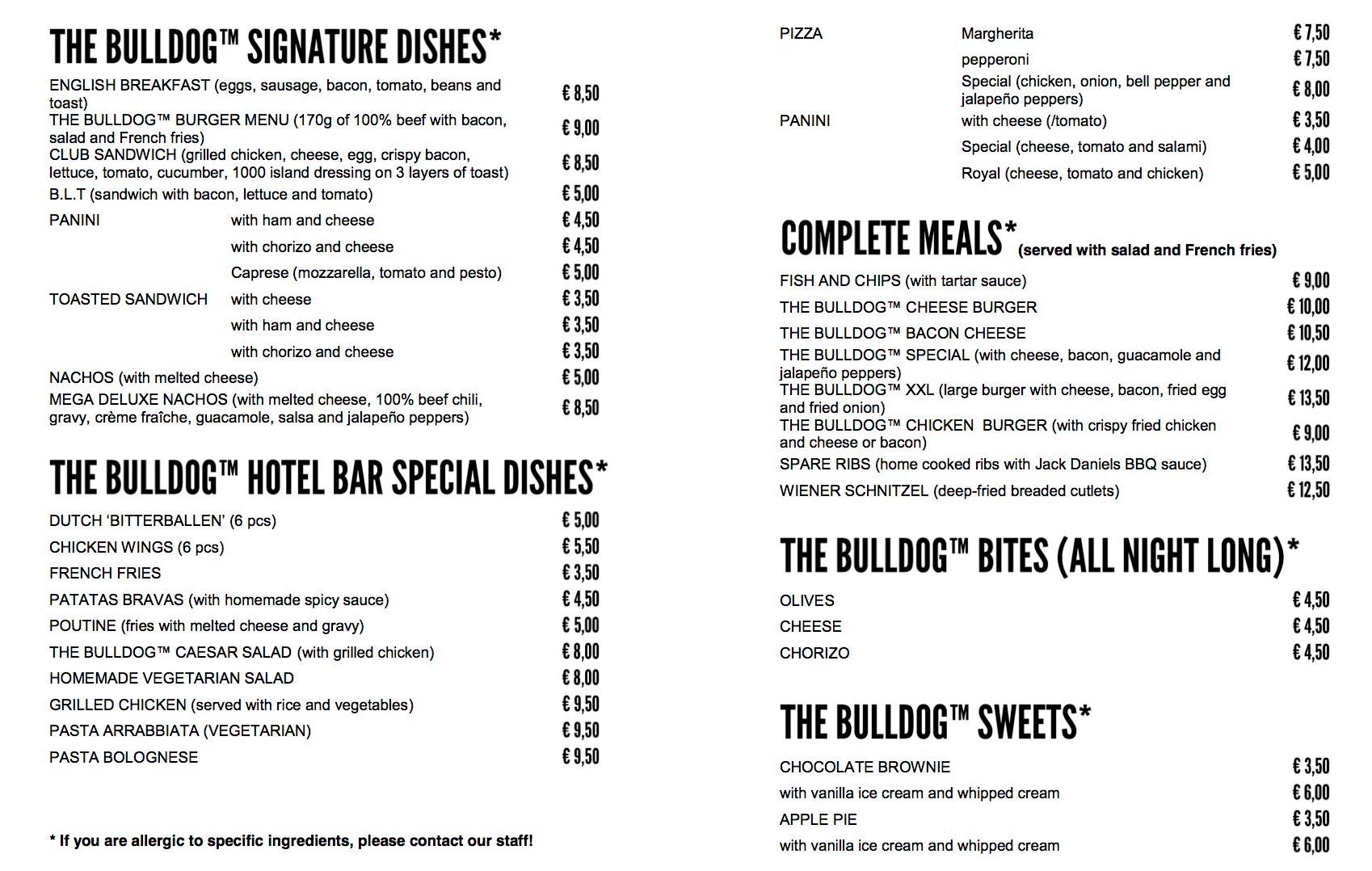 Cu nto cuesta comer en europa visa al mundo for Bar food la menu